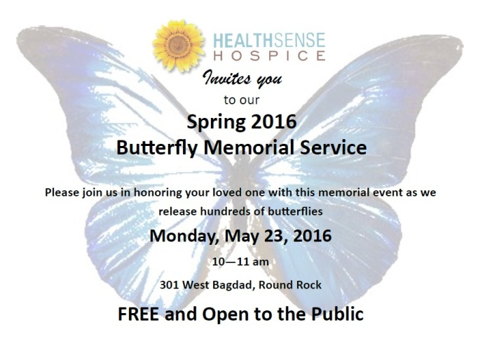 Butterfly Memorial 2016